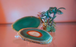 Green Agate Slice