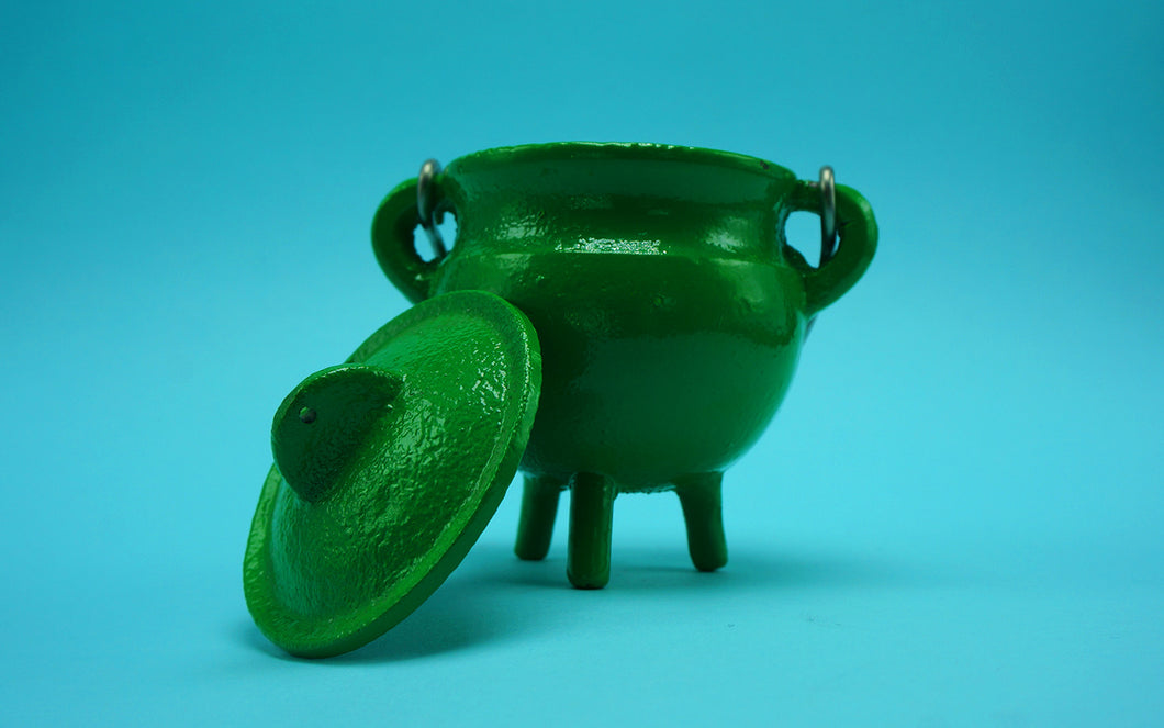 Cast Iron Cauldron Green