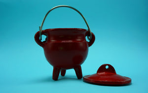 Cast Iron Cauldron Red