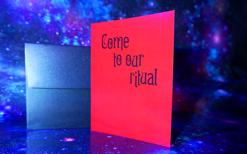Come to Our Ritual Greeting Card