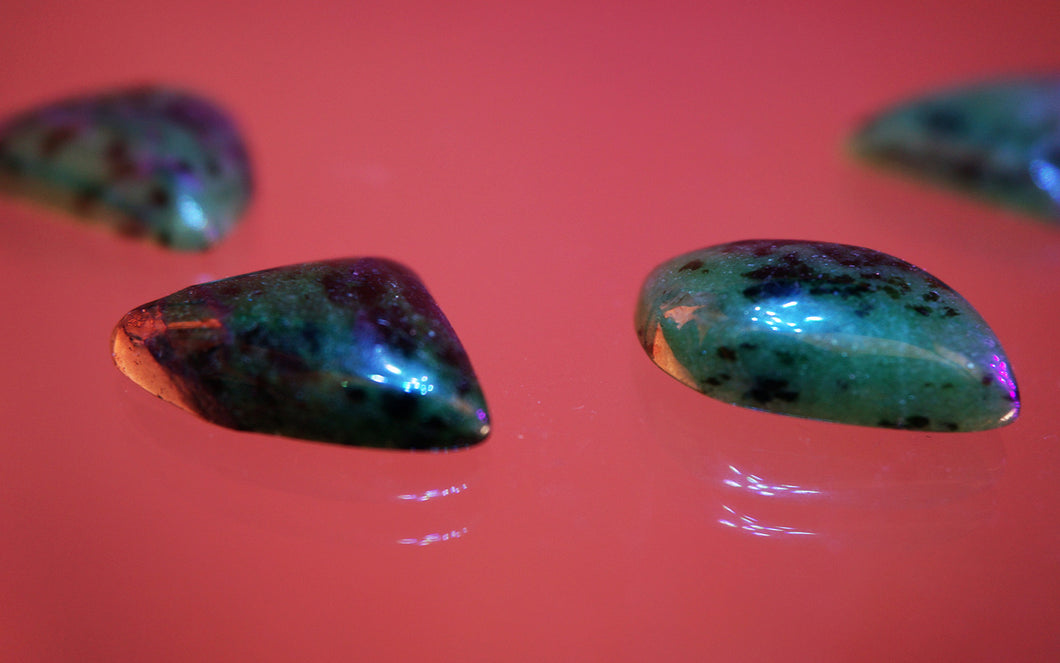 Ruby Zoisite 3-Point Stone