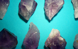 Chunky Amethyst Teeth