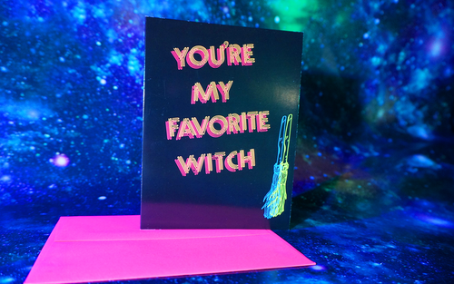 You're My Favorite Witch Postcard