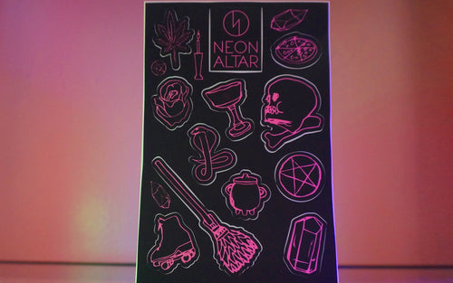 Neon Altar Sticker Sheet