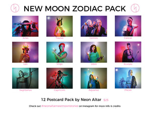 New Moon Zodiac Postcards