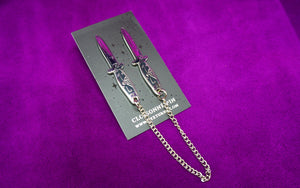 Switchblade Collar Pin