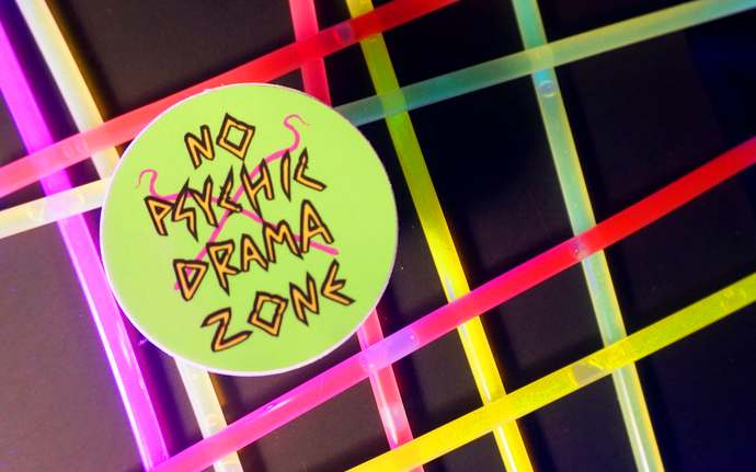 No Psychic Drama Zone Sticker
