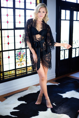 Dreamcatcher Short Robe | Noir