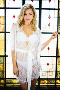 Rendezvous Short Robe | Blanc