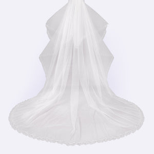 Baroque veil with beading style #12