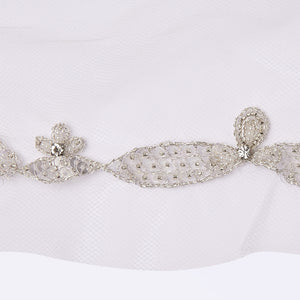 Baroque veil with beading style #13