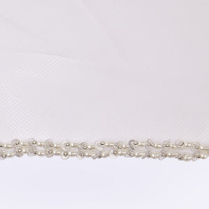 Baroque veil with beading style #14