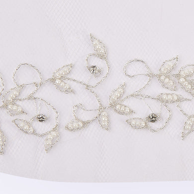 Baroque veil with beading style #4