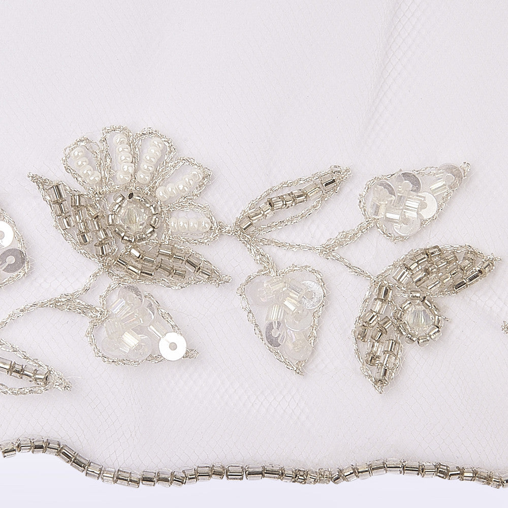 Baroque veil with beading style #5