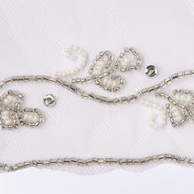 Baroque veil with beading style #7