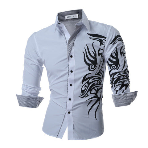 Men's Long-Sleeved Dress Shirts