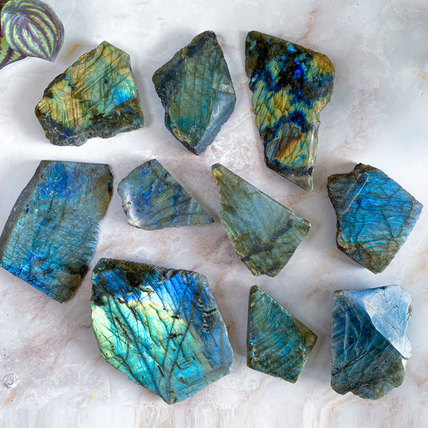 Labradorite One Face Polished Slabs | You Choose