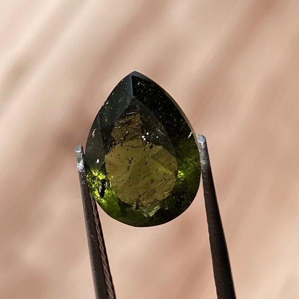 Gem Grade Faceted Moldavite Teardrop