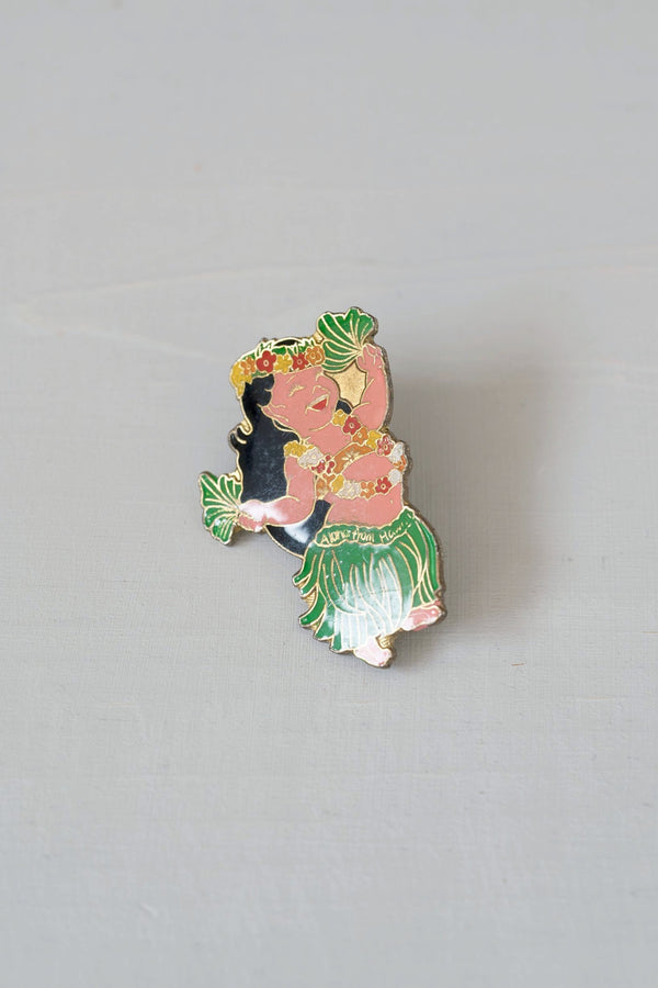Vintage Hula Girl Dancer Collectible Hawaii Pin