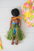 Vintage 1960s Collectible Elsie Denney Honolulu Hawaii Doll With Colorful Dress & Original Box