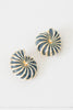 Vintage Gold-and-Navy Nautilus Shell Clip-On Earrings