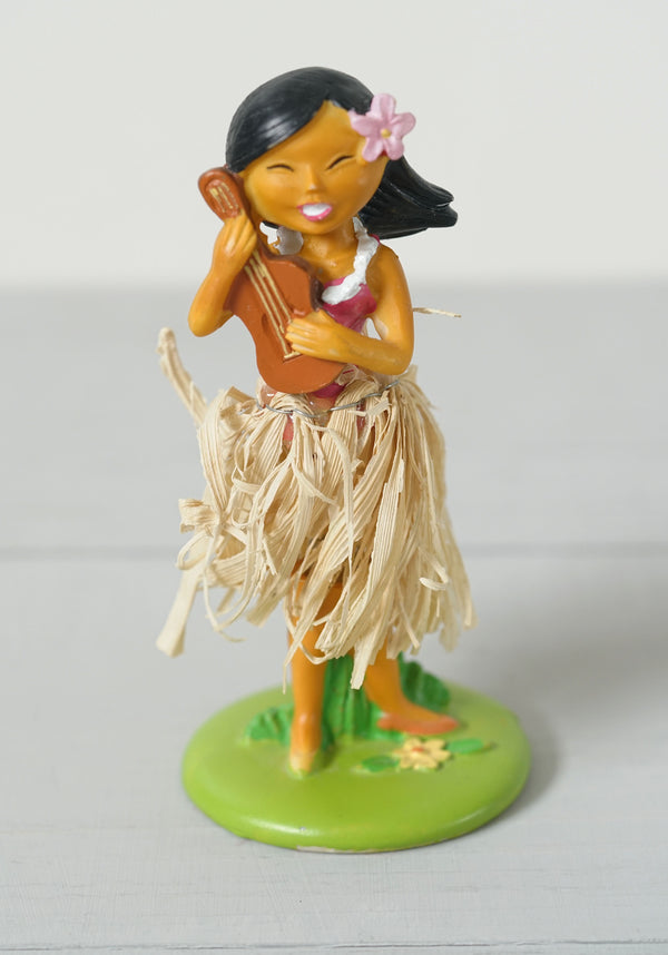 Cute Hula Girl Bobble Dancer With Ukulele