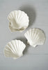Vintage Set of 4 White Plastic Stacking Shell Catchall Dishes