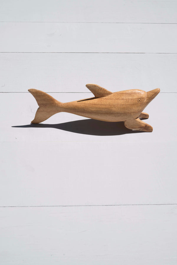 Vintage Decorative Wooden Dolphin