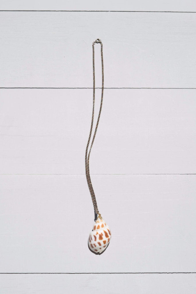 Vintage Funky Cone Shell Necklace