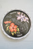 Vintage Hawaiian Islands Black and White Round Metal Tray