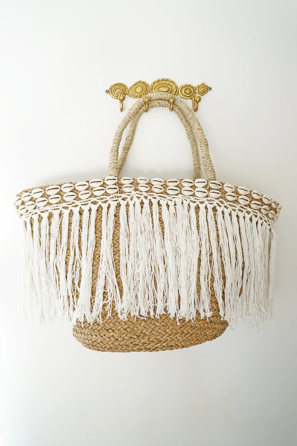 The Hula Skirt Fringe Shell Tote
