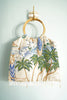 Beaded Tropical Hawaii Fringe Purse With Bamboo Handles