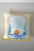 Vintage 1940s - 1950s Light Blue and Gold Silky Mother Hawaiian Souvenir Pillow