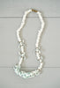 Vintage Petite White and Sky Blue Curly Coral Shell Necklace