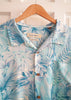 Tommy Bahama 100% Silk Sky Blue Tropical Jungle Men's XXL Button-Up Shirt