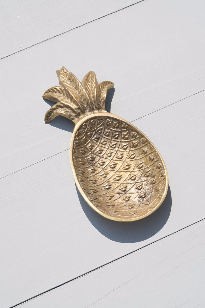 Vintage Solid Brass Pineapple Catchall Dish