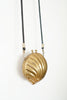 Antique Brass Clam Shell Purse With Red Velvet Lining