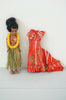 Vintage 1960s Collectible Elsie Denney Honolulu Hawaii Doll With Red Dress & Original Box