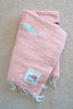 Happy Beach Shack Blanket in Plumeria Pink Birds