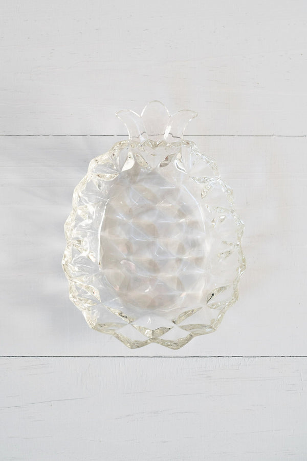 Vintage Faceted Glass Pineapple Catchall Dish