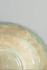 Rustic Vintage Basket Weave Green-and-Cream Hibiscus Ceramic Dish
