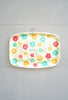 Vintage Shell Hawaii Platter Tray With Colorful Flowers