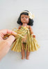 Collectible Vintage Plastic Hula Girl Doll With Removable Stand