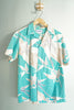 Vintage Kai Nani Made in Hawaii Turquoise Men's Small Aloha Shirt