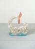 Vintage Brazilian Iridescent Luster Ceramic Pink and Blue Mermaid Figurine