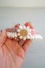 Vintage Pink Handmade Hawaiian Ni'ihau Momi Shell Haku Crown Headpiece