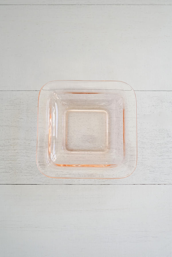 Vintage 1920s Square Pink Pre Depression Glass Dish