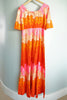 Vintage 1960s Polynesian Bazaar Retro Flower Pineapple Hawaiian Maxi Dress