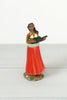 Vintage Hula Girl Bobble Doll With Ukulele & Red Skirt