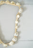 Vintage Shell and Rope Adjustable Choker Necklace With Mother of Pearl Buttons